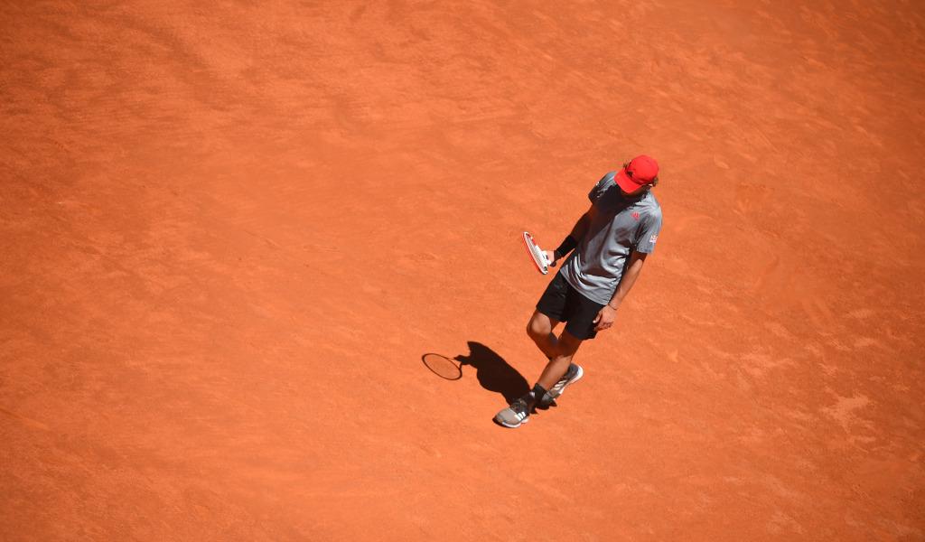 Dominic Thiem on clay