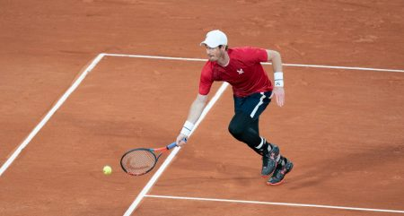 Andy Murray on the clay