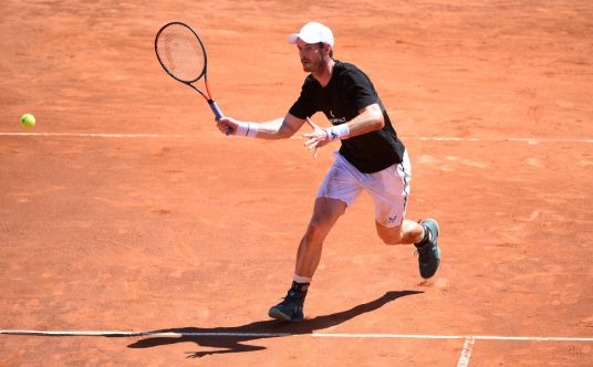 Andy Murray on clay