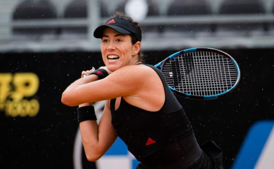 Garbine Muguruza in action