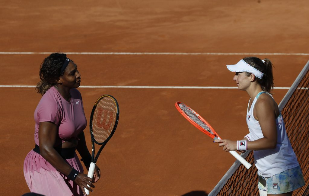 Serena Williams and Nadia Podoroska