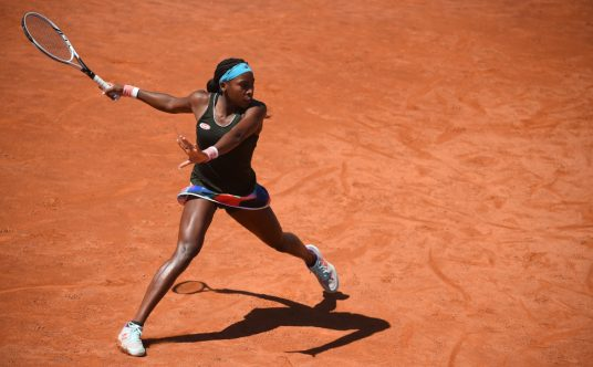 Coco Gauff in her stride