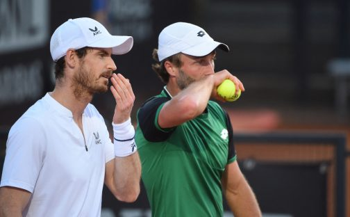 Andy Murray and Liam Broad in doubles