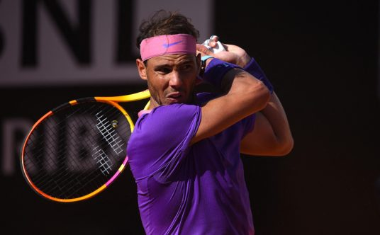 Rafael Nadal in full flow