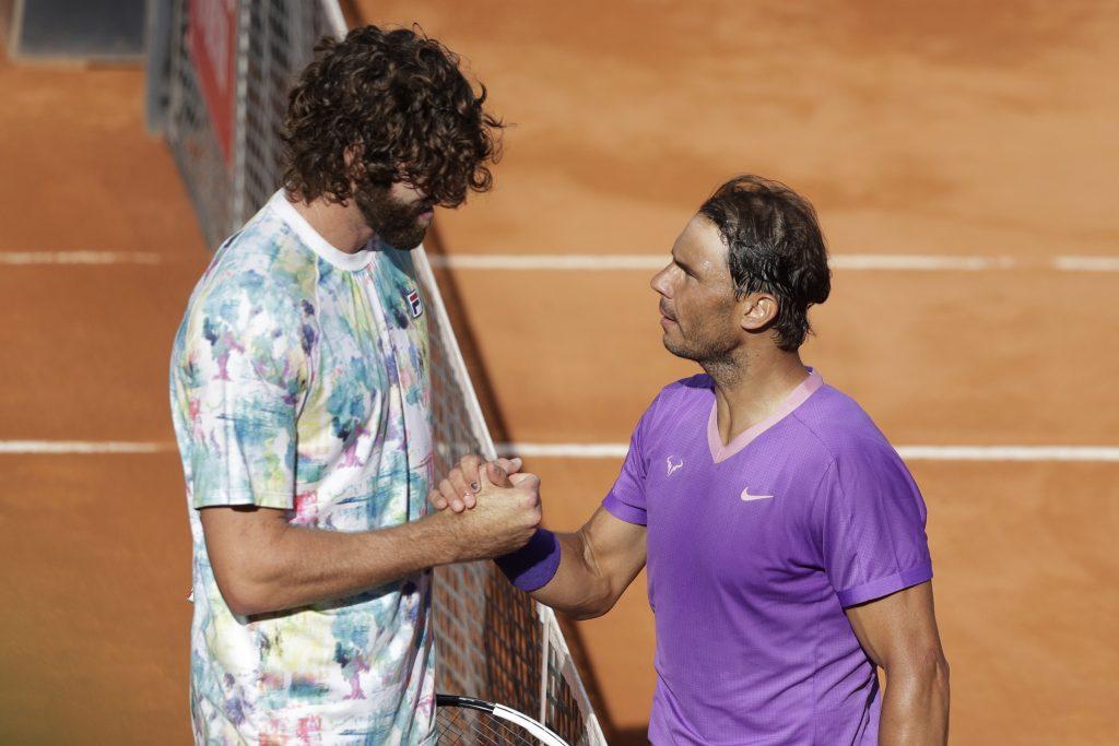 Reilly Opelka and Rafael Nadal