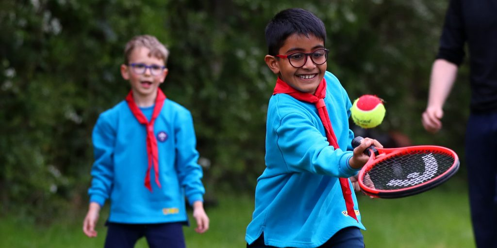 Young Beavers in Northolt tries out tennis (LTA handout)