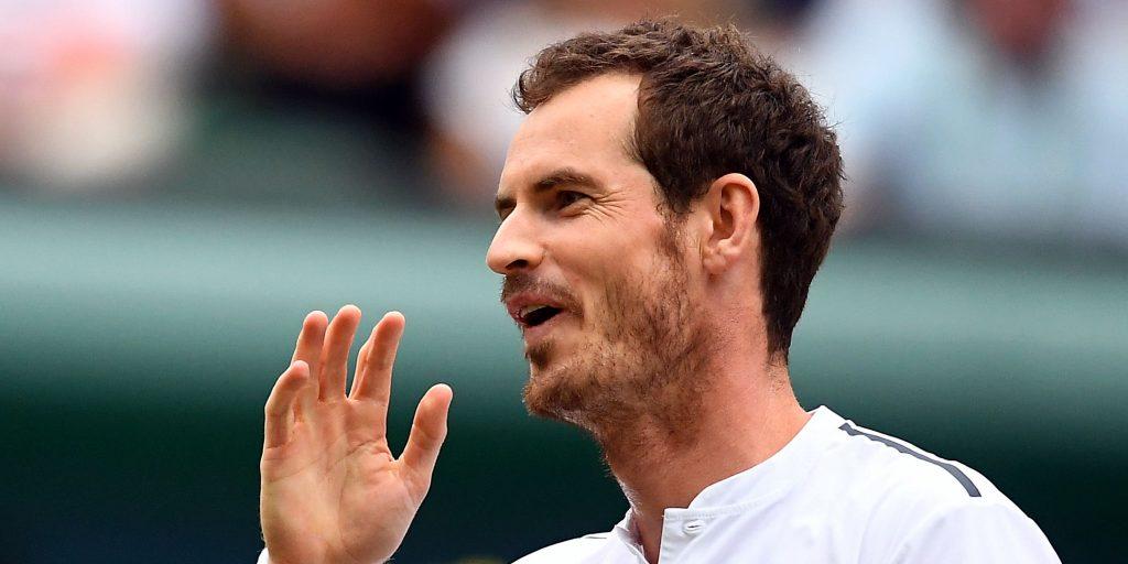 Andy Murray playful