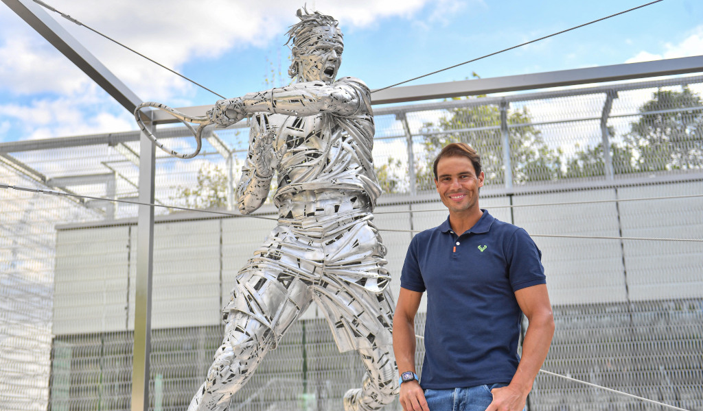 Rafael Nadal French Open Roland Garros statue