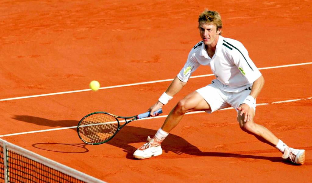 Juan Carlos Ferrero on the clay