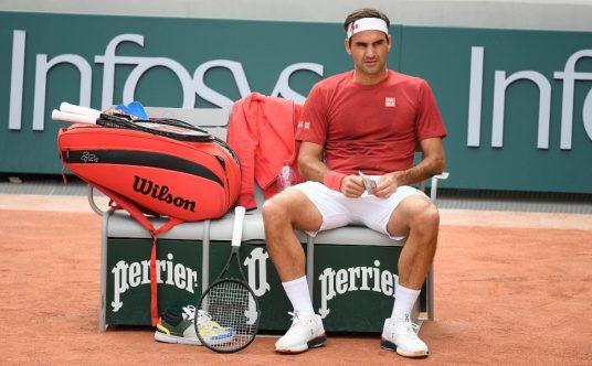 Roger Federer taking a break