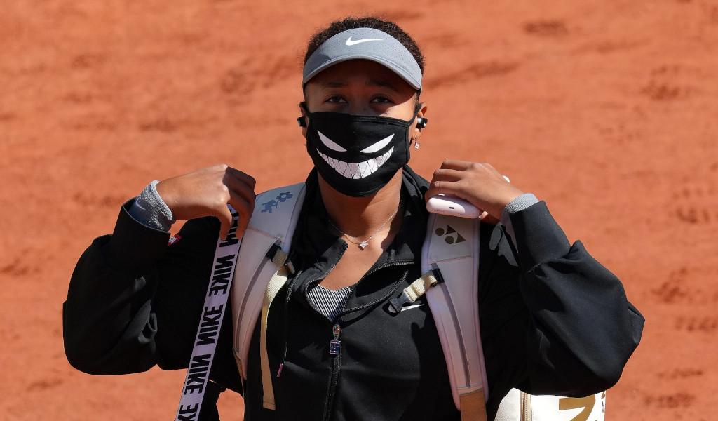 Naomi Osaka on court