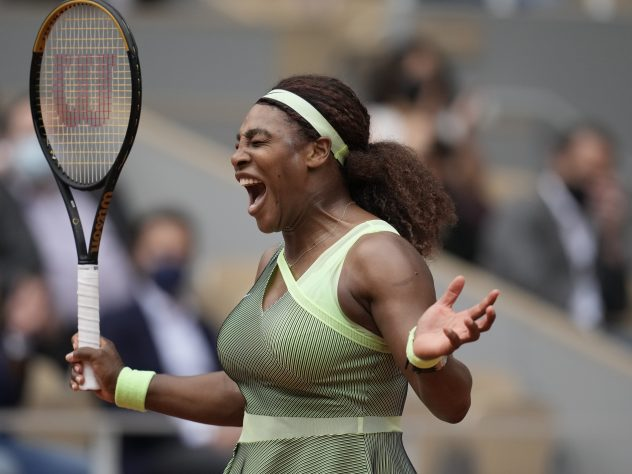 Serena Williams overcame some frustrating moments in the second half
