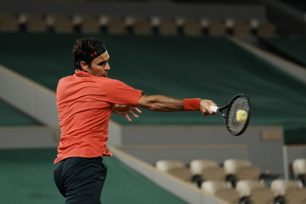 Roger Federer on the move