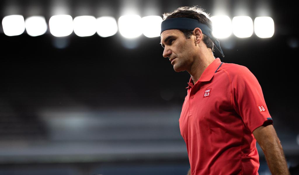 Roger Federer under lights