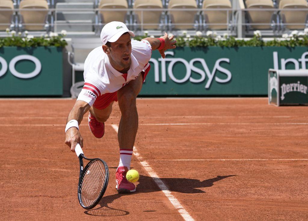 Novak Djokovic on the run