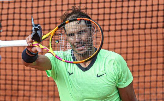 Rafael Nadal in action