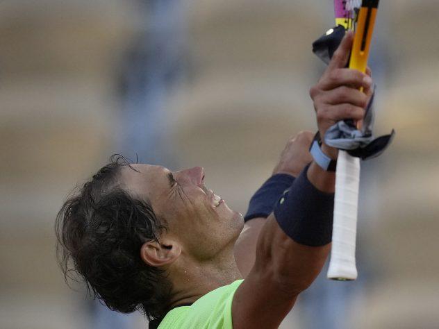 Rafael Nadal was in fine form against Jannik Sinner