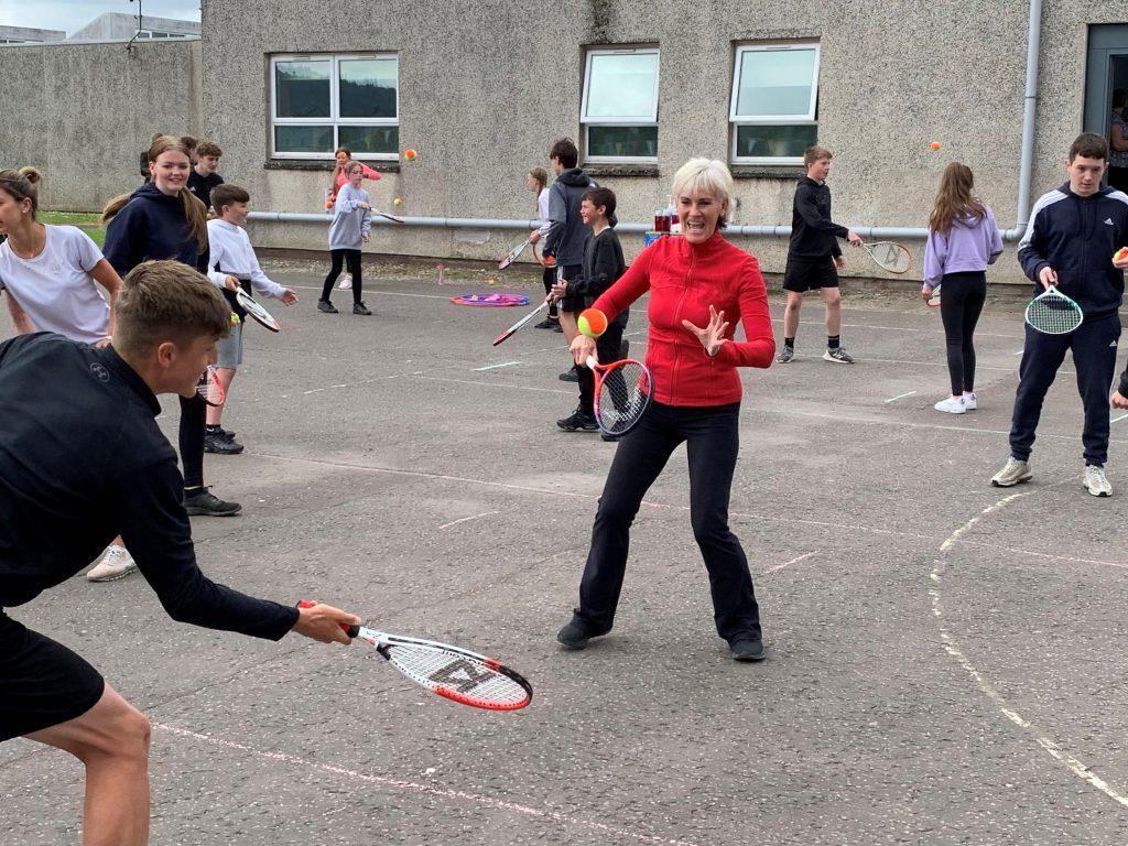 Judy Murray taking tennis skills to Scottish schools (Ronnie Esplin/PA).