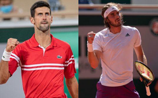 2021 French Open men's final Novak Djokovic v Stefanos Tsitsipas