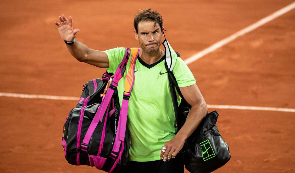 Rafael Nadal waves goodbye