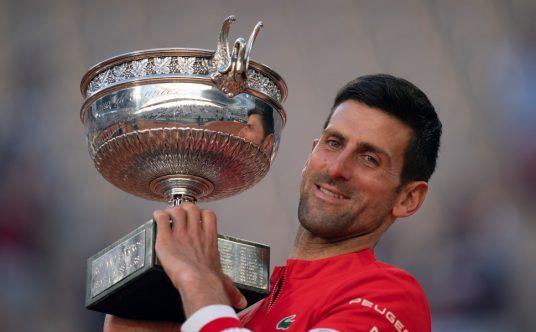 Novak Djokovic French Open celebrations