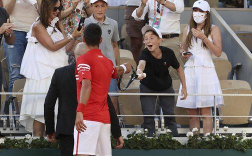 Novak Djokovic gifts racket to fan after French Open final