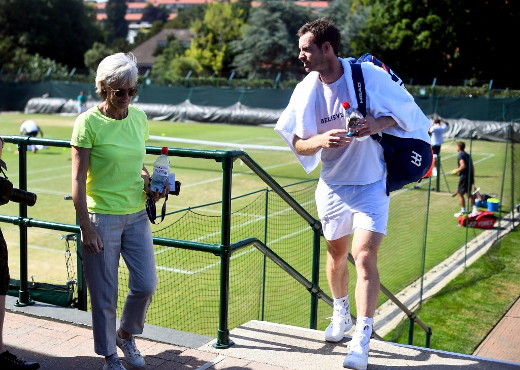 Judy Murray and Andy Murray in conversation