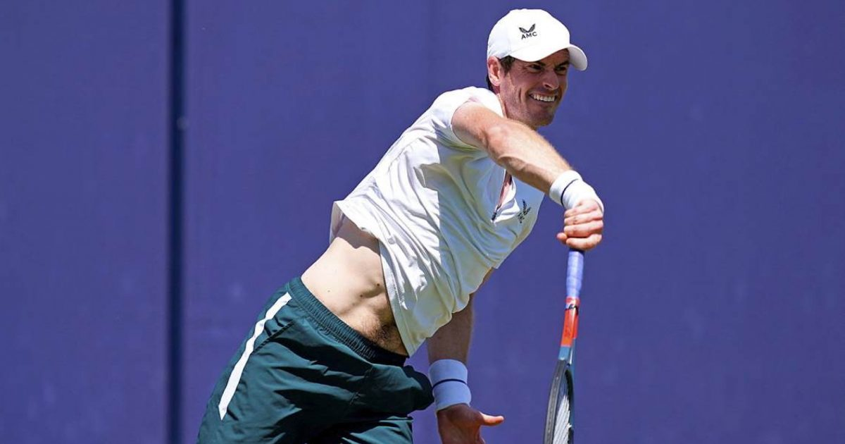 Andy Murray practicing at Queen's Club