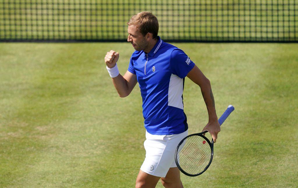 Dan Evans in action