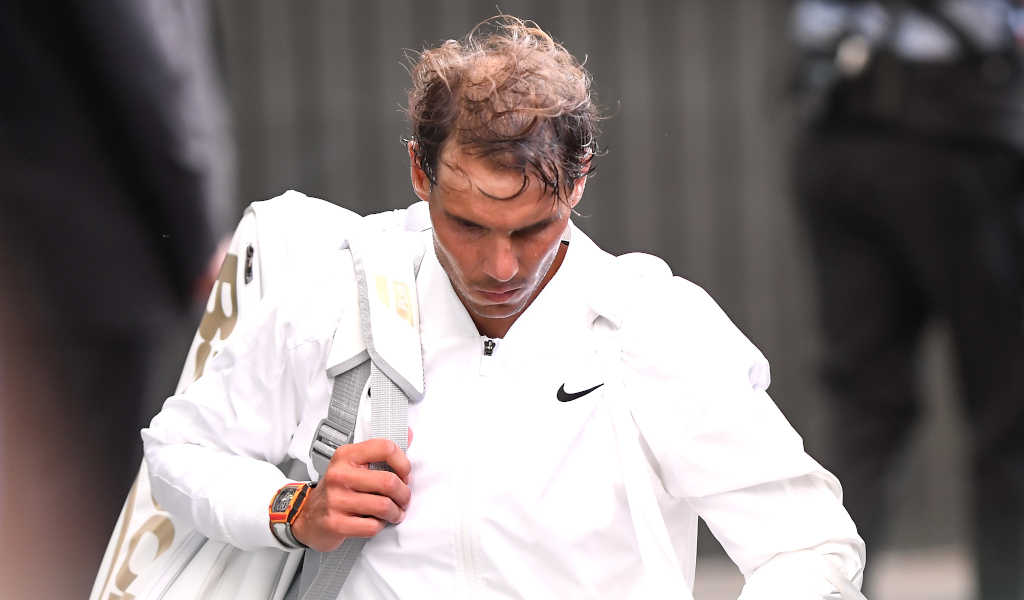 Rafael Nadal leaves Wimbledon Centre Court