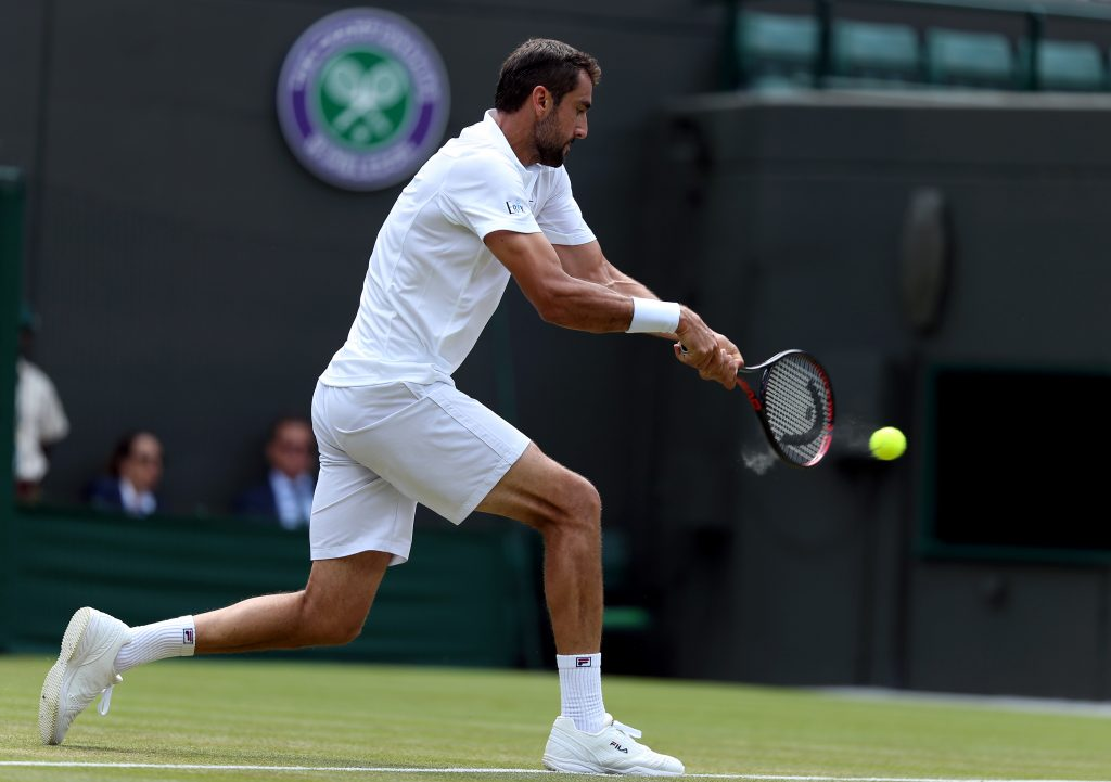 Marin Cilic in action