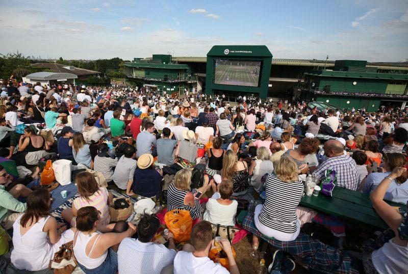 Wimbledon atmosphere on Henman Hill