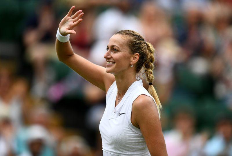 Petra Kvitova waving