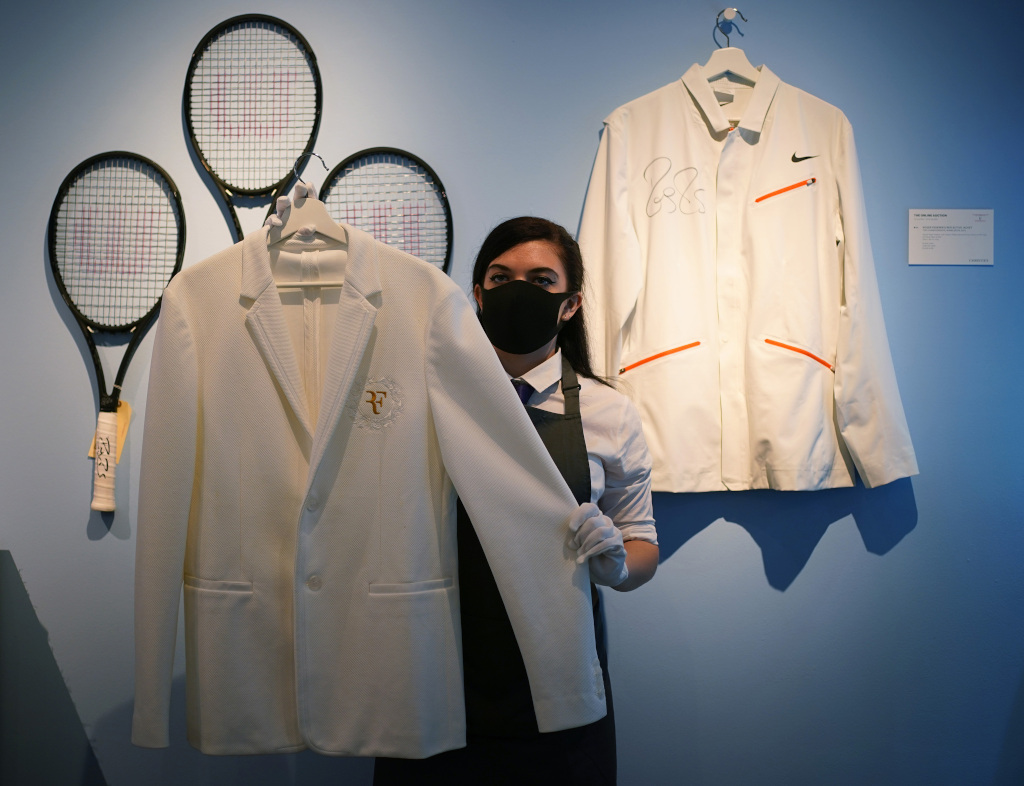 Roger Federer Wimbledon outfit Christie's