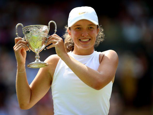 Iga Swiatek won the Wimbledon junior title in 2018