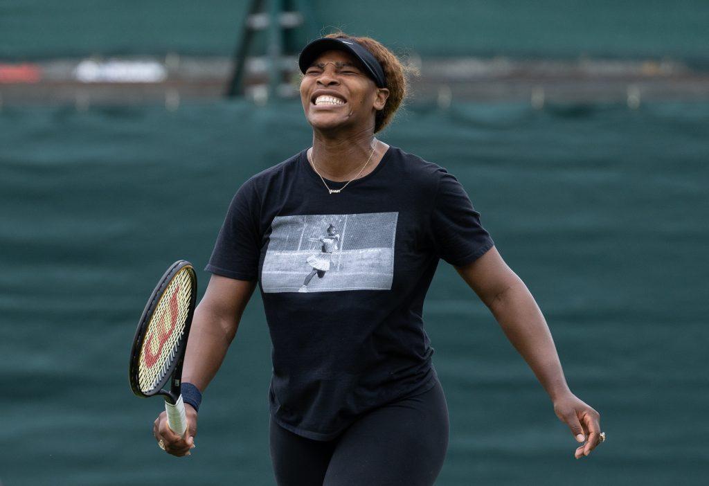 Serena Williams joking