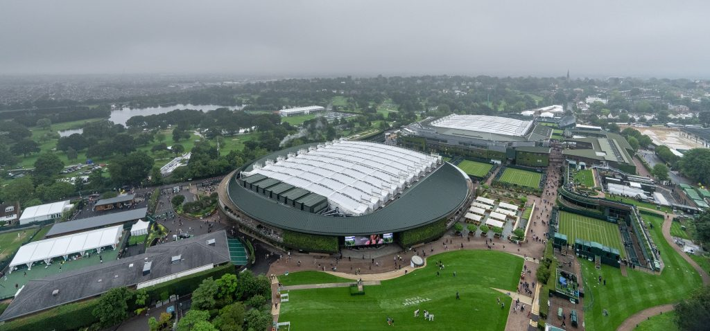 Wimbledon Centre Court and No.1 Court roofs