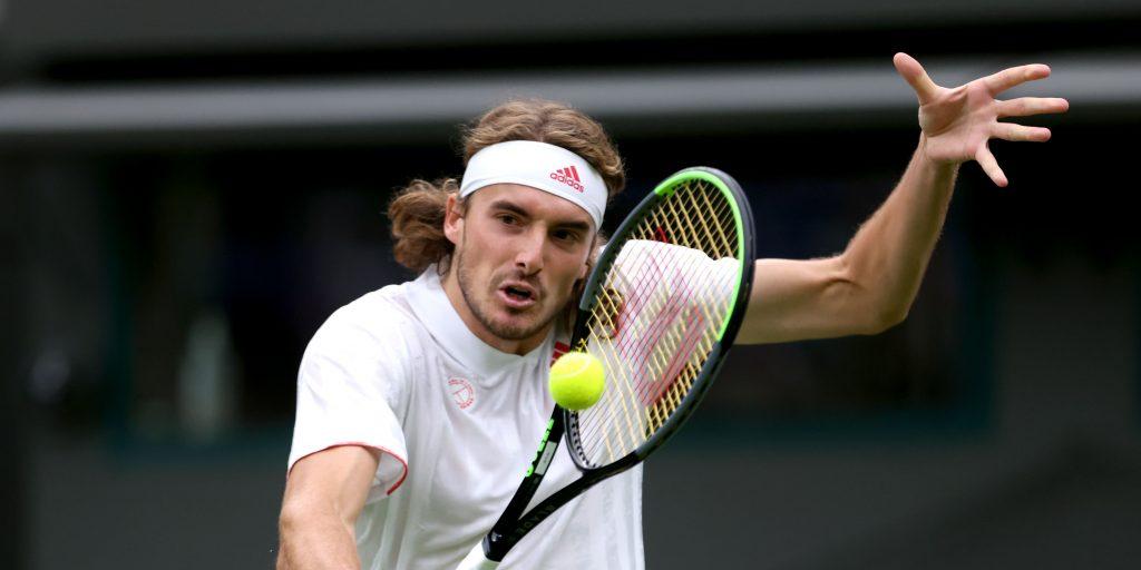 Stefanos Tsitsipas at Wimbledon