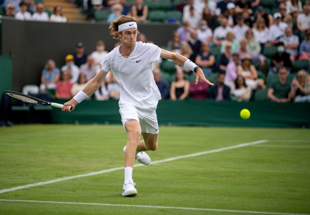 Andrey Rublev on the run