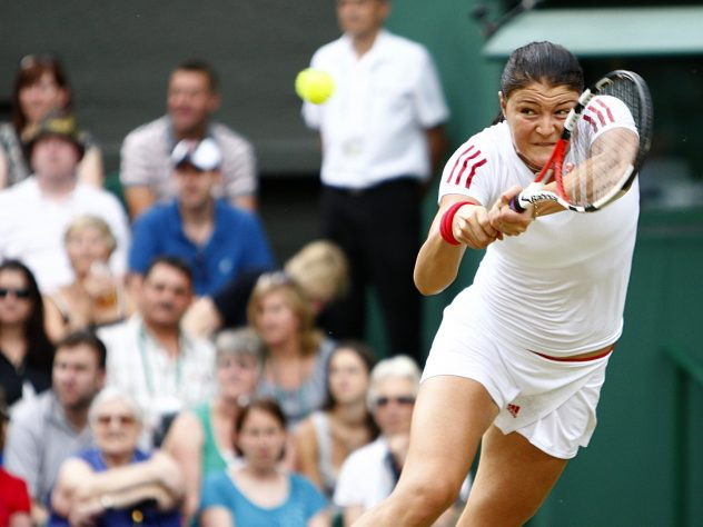 Russia's Dinara Safina won the first match to finish under the centre court roof