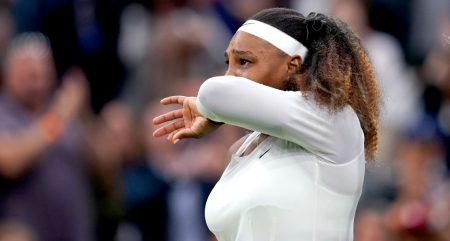 Serena Williams in tears