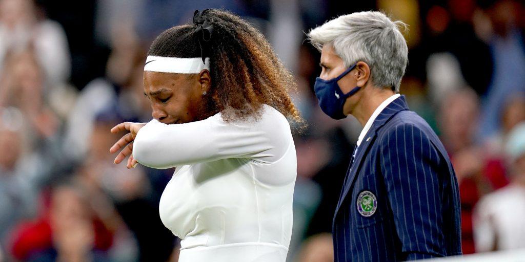 Serena Williams emotional
