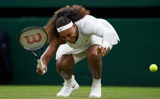 Serena Williams injury at Wimbledon