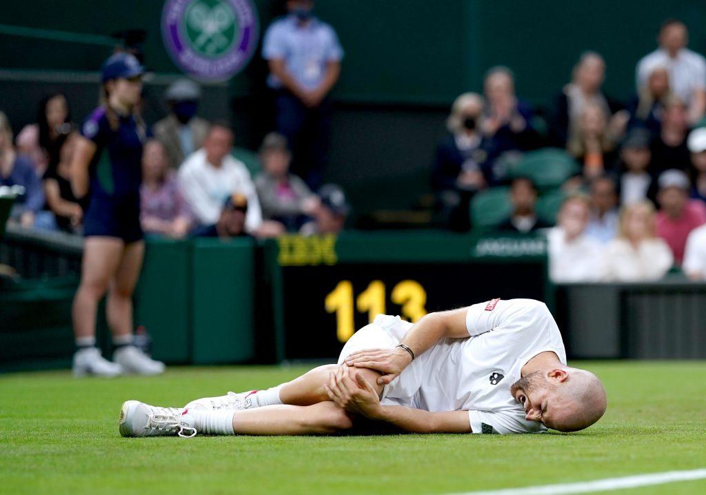 Adrian Mannarino at Wimbledon
