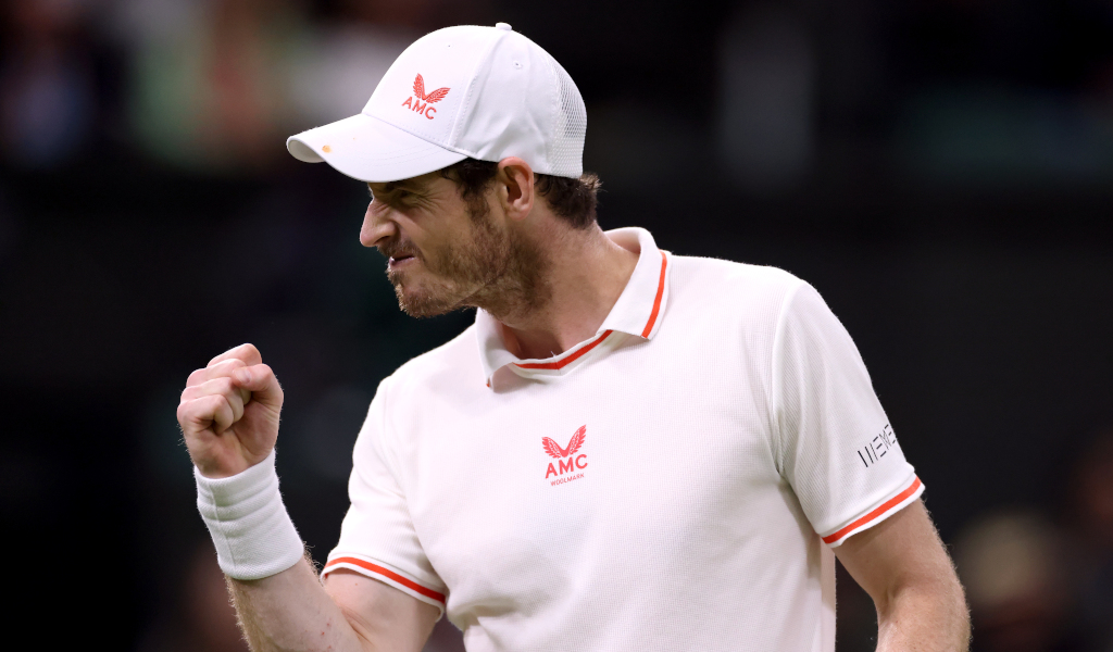 Delight for Andy Murray