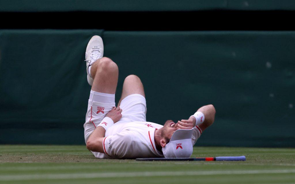 Andy Murray falls at Wimbledon