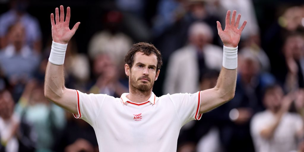 Andy Murray celebrate