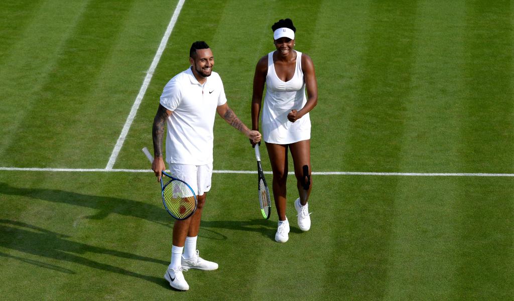 Nick Kyrgios and Venus Williams mixed doubles Wimbledon
