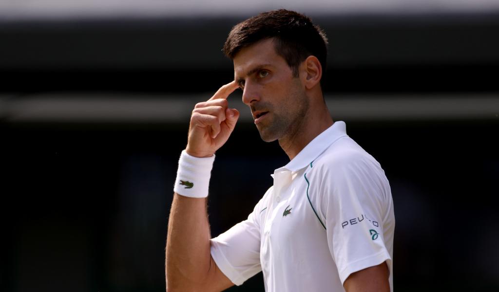 Novak Djokovic focused