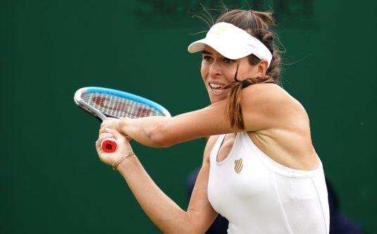 Ajla Tomljanovic in action